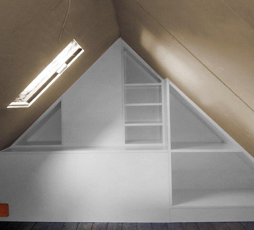 Einbauregal Dachgeschoss